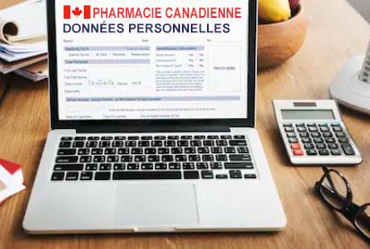 pharmacie canadienne - données personnelles