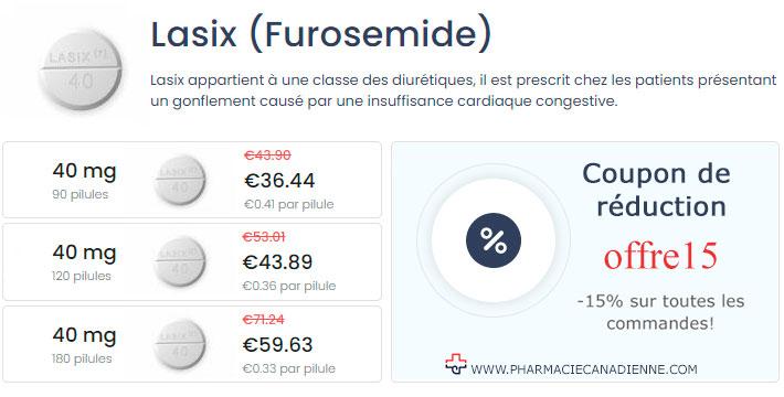 Acheter Lasix (Furosémide) 40 mg sans ordonnance