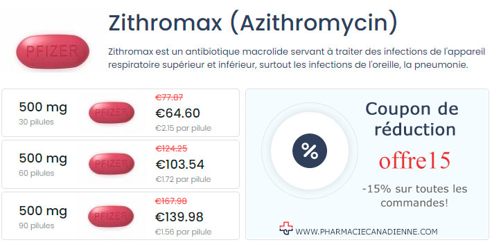 Acheter Zithromax Azithromycin sans ordonnance