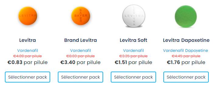 acheter Levitra Vardenafil en ligne Levitra générique en France